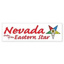 Nevada Eastern Star Bumper Bumper Sticker
