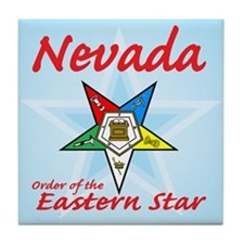 Nevada Eastern Star Tile Coaster