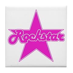 Retro Rockstar Tile Coaster