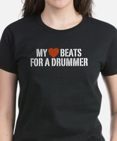 My Heart Beats for a Drummer Tee