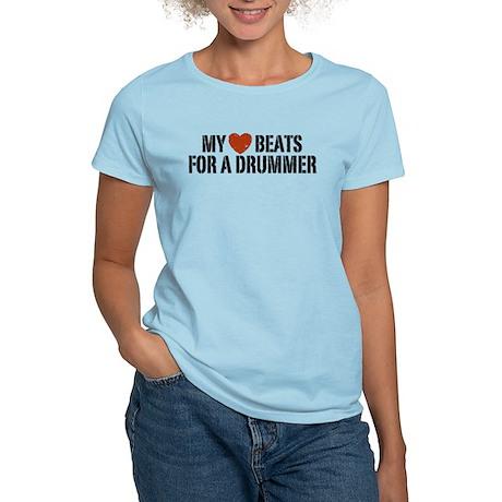 My Heart Beats for a Drummer Women's Light T-Shirt