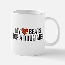 My Heart Beats for a Drummer Mug