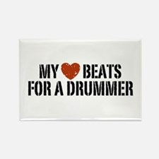 My Heart Beats for a Drummer Rectangle Magnet