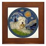 Starry / Wheaten (#1W) Framed Tile