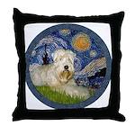 Starry / Wheaten (#1W) Throw Pillow