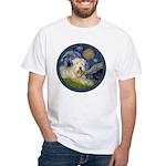 Starry / Wheaten (#1W) White T-Shirt