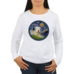 Starry / Wheaten (#1W) Women's Long Sleeve T-Shirt