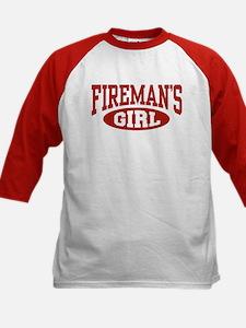 Fireman's Girl Kids Baseball Jersey