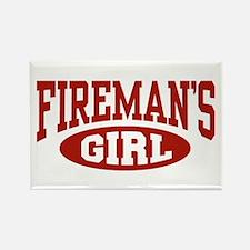 Fireman's Girl Rectangle Magnet