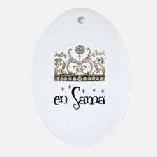 Queen Samantha Oval Ornament