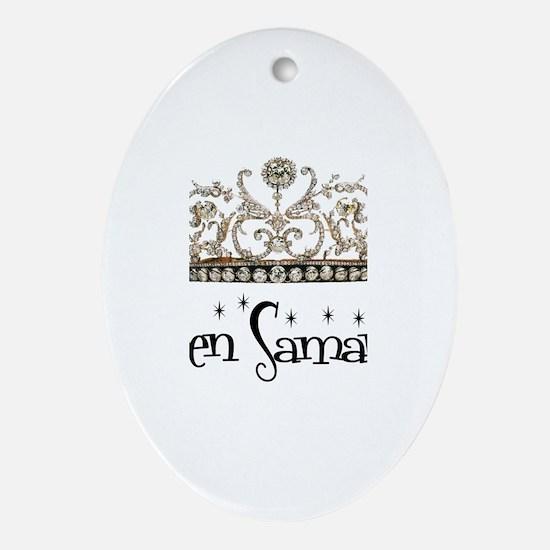 Queen Samantha Oval Ornament
