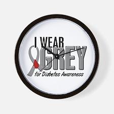 I Wear Grey 10 (Diabetes) Wall Clock