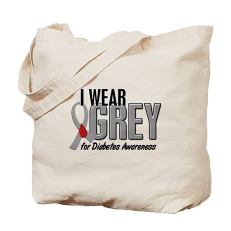 I Wear Grey 10 (Diabetes) Tote Bag