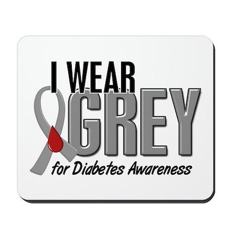 I Wear Grey 10 (Diabetes) Mousepad