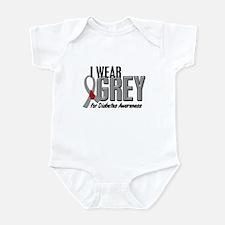 I Wear Grey 10 (Diabetes) Infant Bodysuit