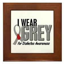 I Wear Grey 10 (Diabetes) Framed Tile