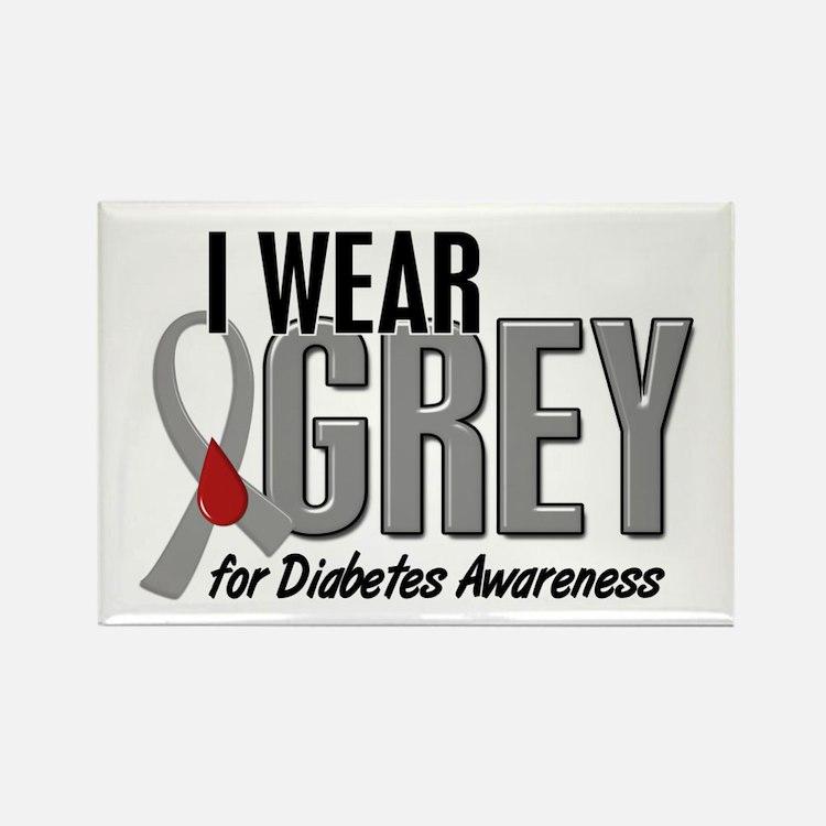 I Wear Grey 10 (Diabetes) Rectangle Magnet