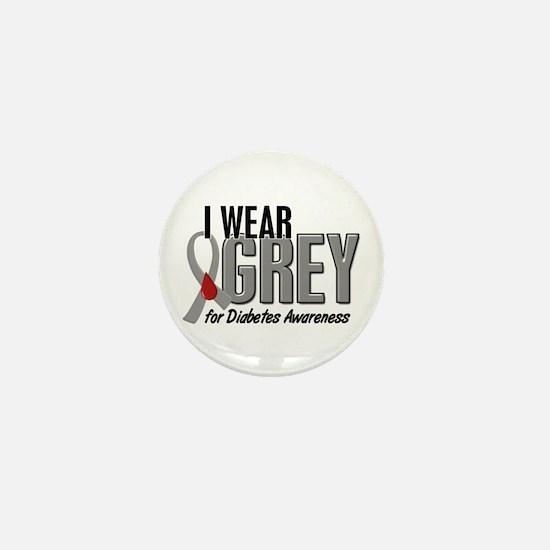 I Wear Grey 10 (Diabetes) Mini Button