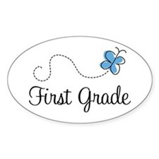 Pretty First Grade Oval Decal