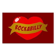 Rockabilly Heart Rectangle Decal
