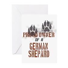 German Shepard Greeting Cards (Pk of 10)