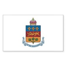 QUEBEC PROVINCE Rectangle Decal