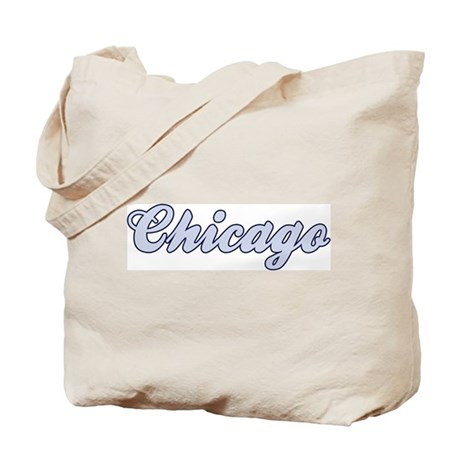 Chicago (blue) Tote Bag