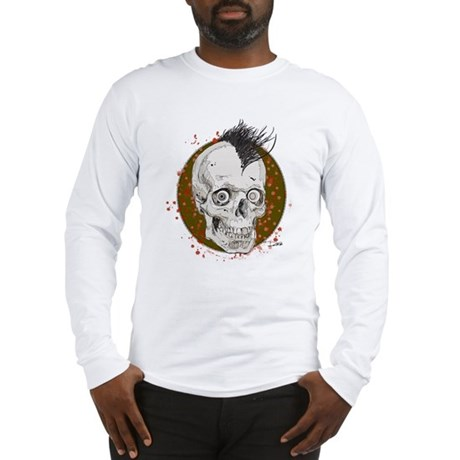 Mohawk Skull Long Sleeve T-Shirt