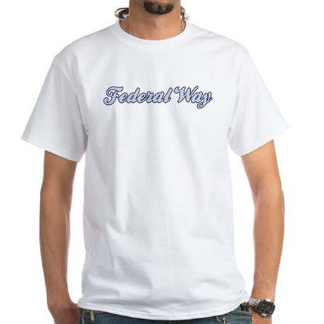 Federal Way (blue) White T-Shirt