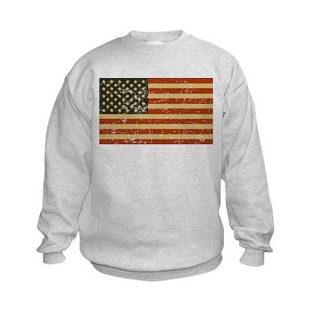 Vintage American Flag Kids Sweatshirt