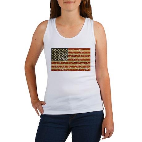 Vintage American Flag Women's Tank Top