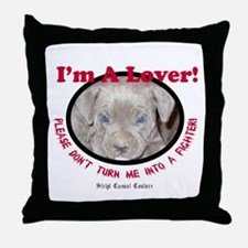 Pit Bull Puppy Anti Dog Fight Throw Pillow
