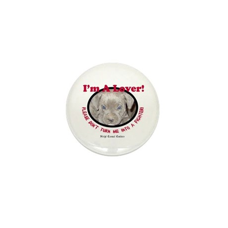 Pit Bull Puppy Anti Dog Fight Mini Button