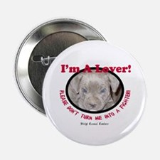 """Pit Bull Puppy Anti Dog Fight 2.25"""" Button"""