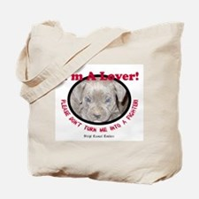 Pit Bull Puppy Anti Dog Fight Tote Bag