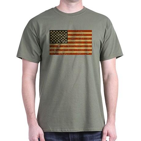 Vintage American Flag Dark T-Shirt