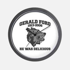 gerald ford eaten by wolves Wall Clock