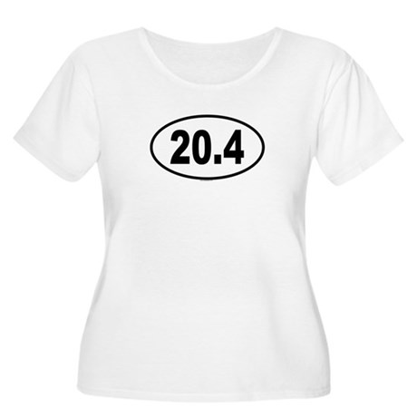 20.4 Womens Plus-Size Scoop Neck T
