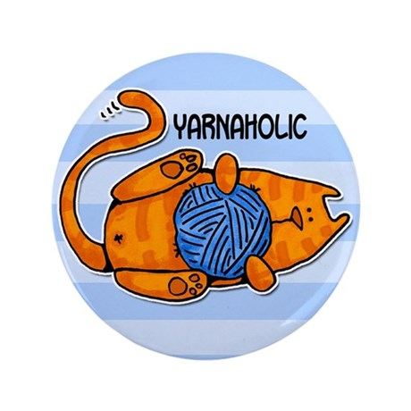"""yarnaholic 3.5"""" Button (100 pack)"""
