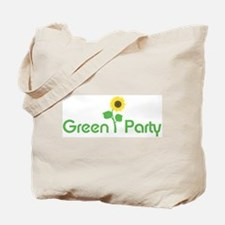 Green Party (sunflower) Tote Bag