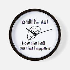 OMG! I'm Forty Wall Clock