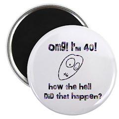 """OMG! I'm Forty 2.25"""" Magnet (100 pack)"""