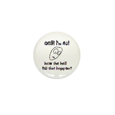 OMG! I'm Forty Mini Button (100 pack)