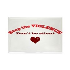 Stop the violence Rectangle Magnet