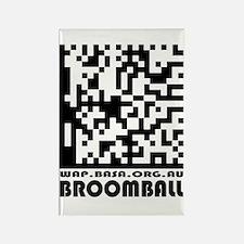 Cute Broomball basa Rectangle Magnet