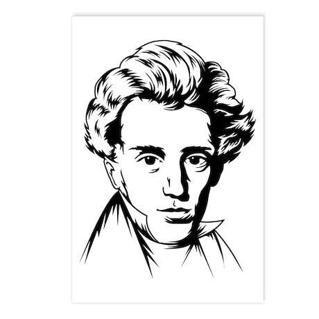 Kierkegaard philosophy Postcards (Package of 8)