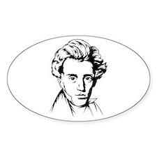 Kierkegaard philosophy Oval Decal