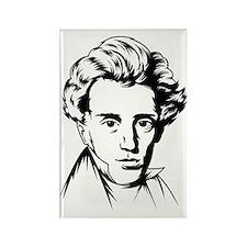 Kierkegaard philosophy Rectangle Magnet
