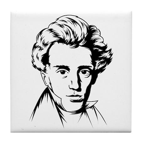 Kierkegaard philosophy Tile Coaster