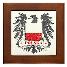 Polska Shield Framed Tile